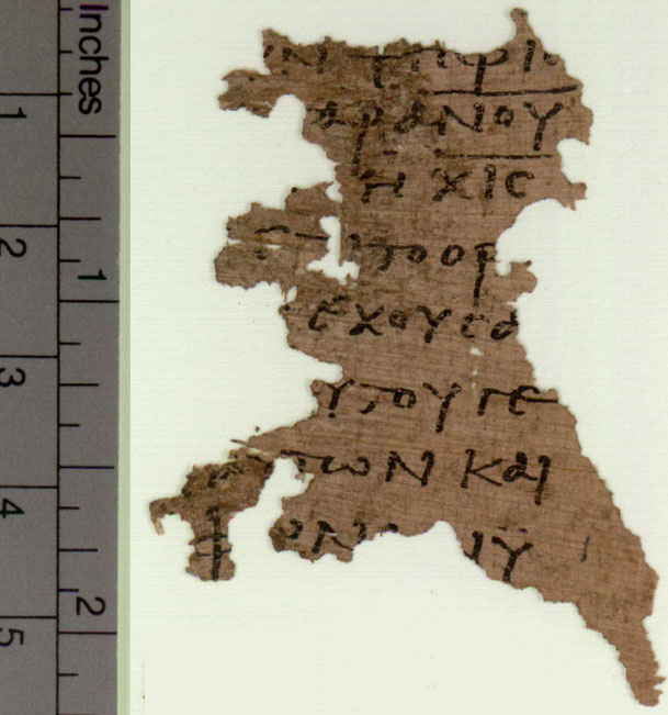 Oxyrhynchos Papyri Fragment from Revelation with the number of the beast